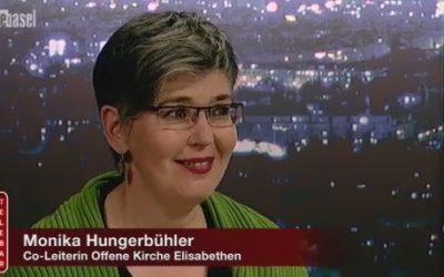 """Telebasel: Monika Hungerbühler an der """"Telebar"""""""